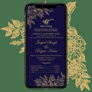 Invites Cafe Sikh Wedding Invitation 001