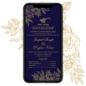 Invites Cafe Sikh Wedding Invitation 001