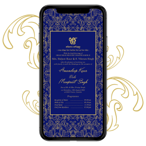 Invites Cafe Sikh Wedding Invitation 009