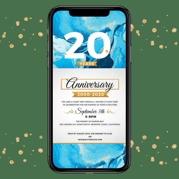 Invites Cafe Anniversary Invitation 001