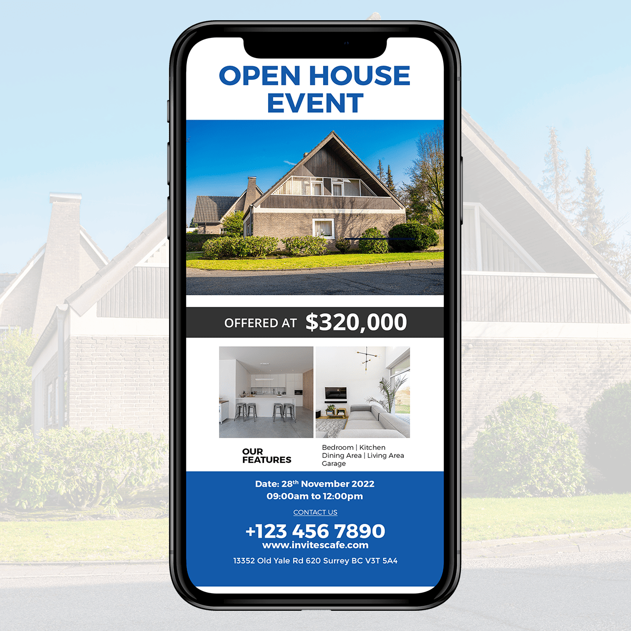 Open House Event Card