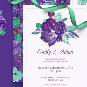 Christian Wedding Invitation Print Ready 010