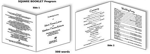 Sample Wedding Program Wording Remembrance download free