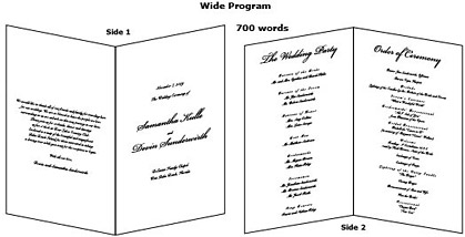 Sample Wedding Renewal Programs