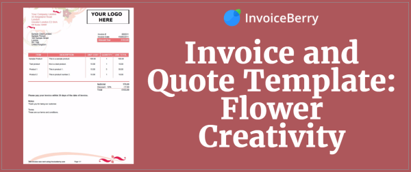 Check out our all new invoice template: flower creativity
