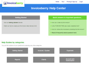 Help-Center for our online invoicing software