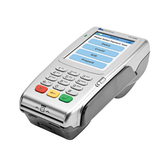 A wireless credit card machine for small business to accept credit