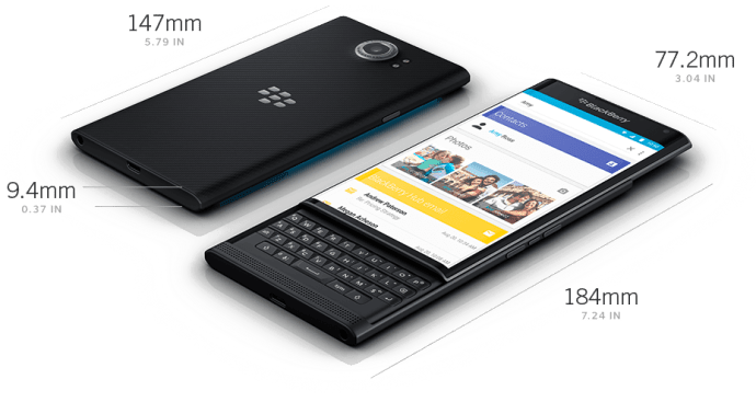 Blackberry priv is first BB smartphone. Perfect for business