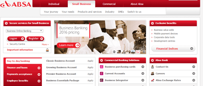 Absa Bank conditions are fine for small business accounts, but not the best
