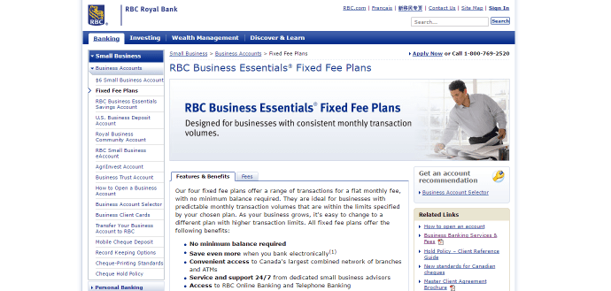 The Royal Bank of Canada's Business Essential series of bank accounts have many great options