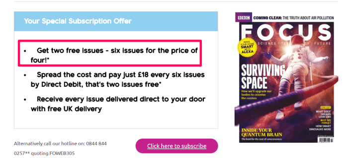 Magazines often use loss leader pricing to attract new customers