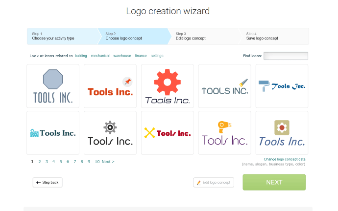 Logaster is a logo creation platform.