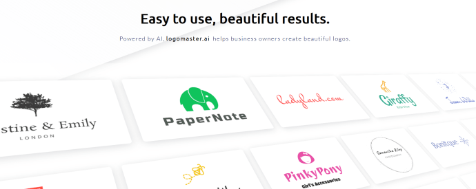 Logomaster is a great design tool that uses AI to help create the perfect logo.