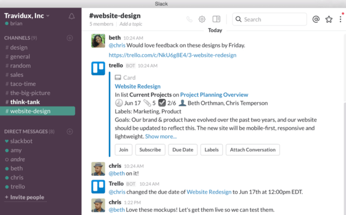 Slack is a great communication tool for your business.