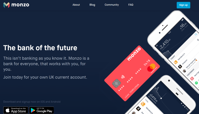 Digital-Banks-Monzo-Homepage
