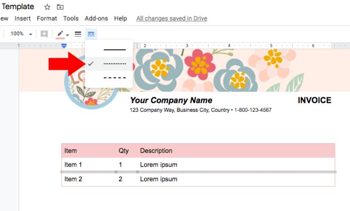 line-google-docs-invoice
