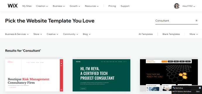 free website templates available on wix.