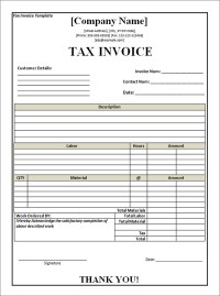 Free Tax Invoice Template Excel | invoice example