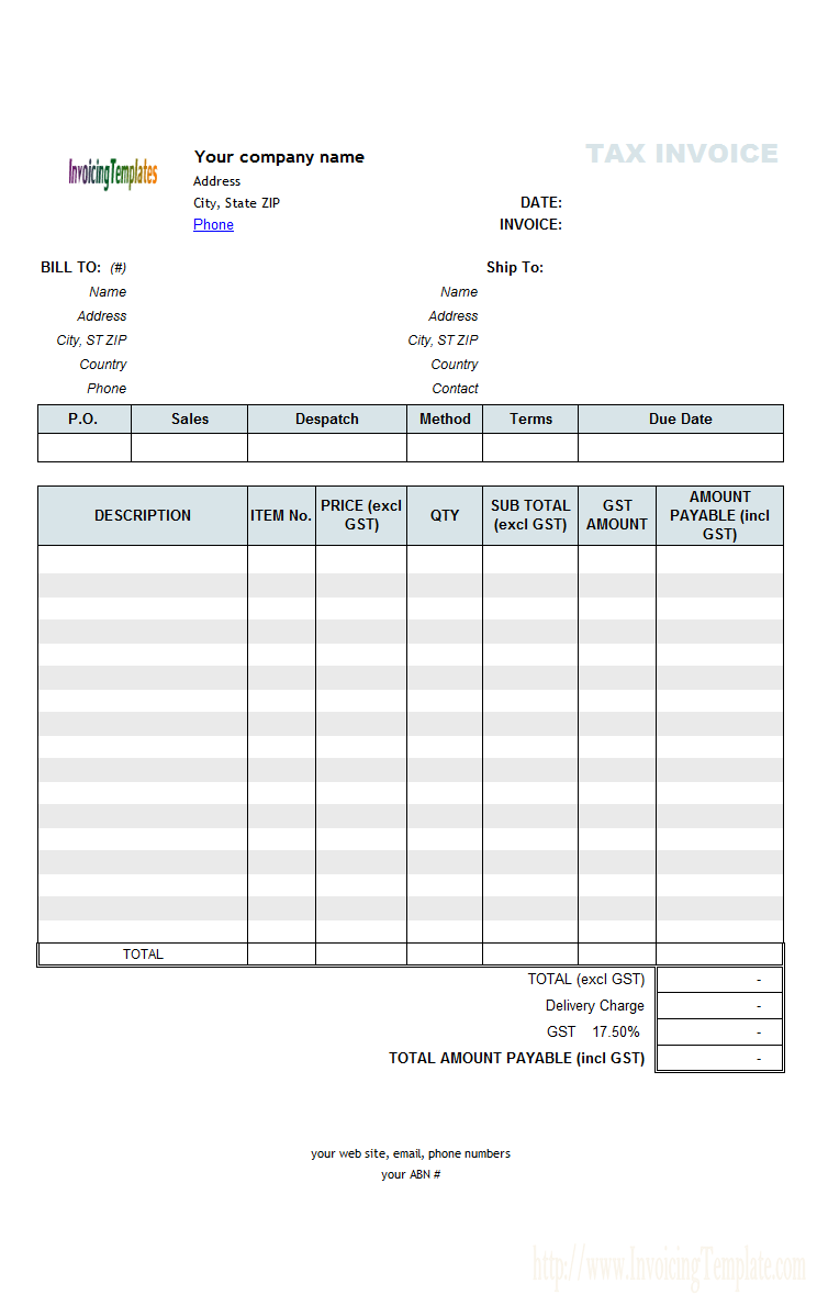 abn invoice template