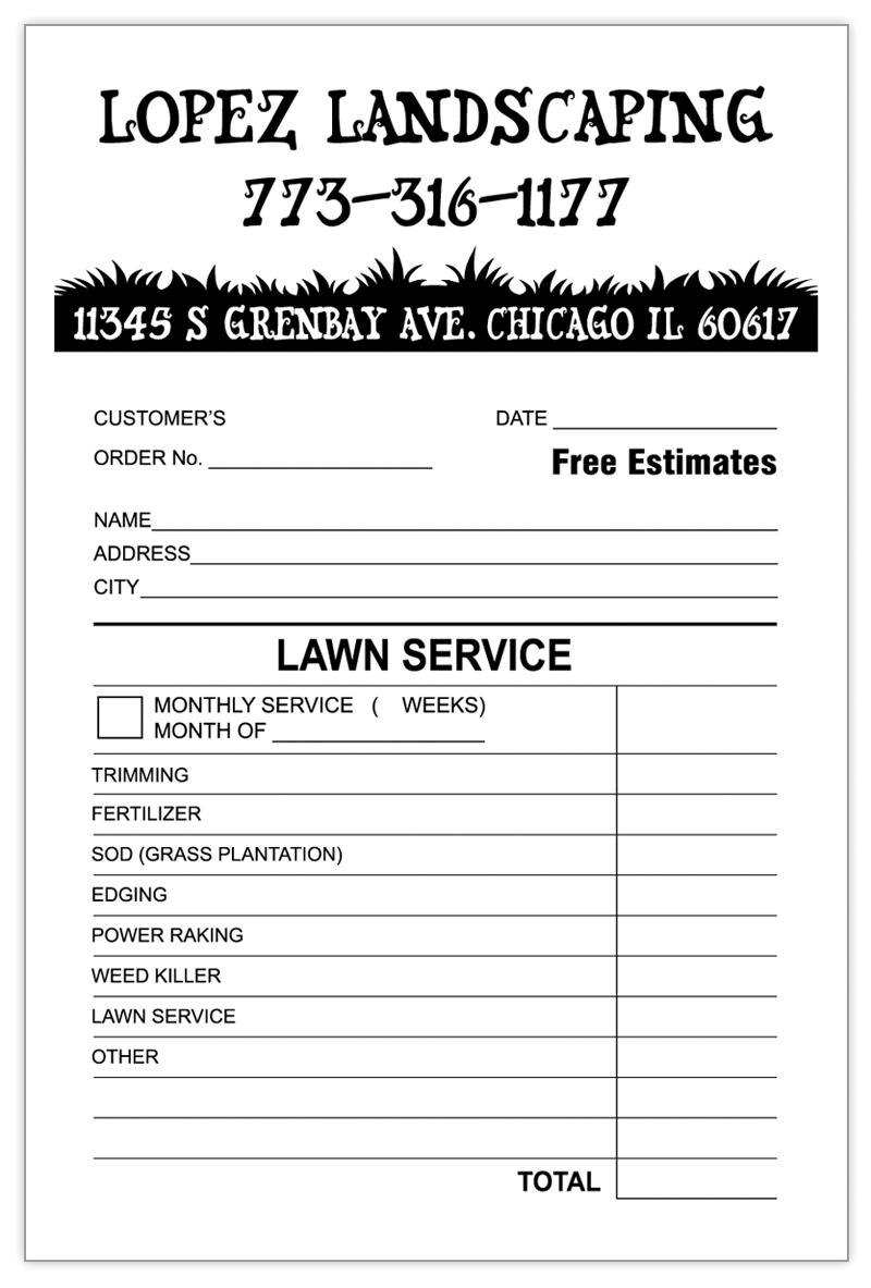 custom invoice forms