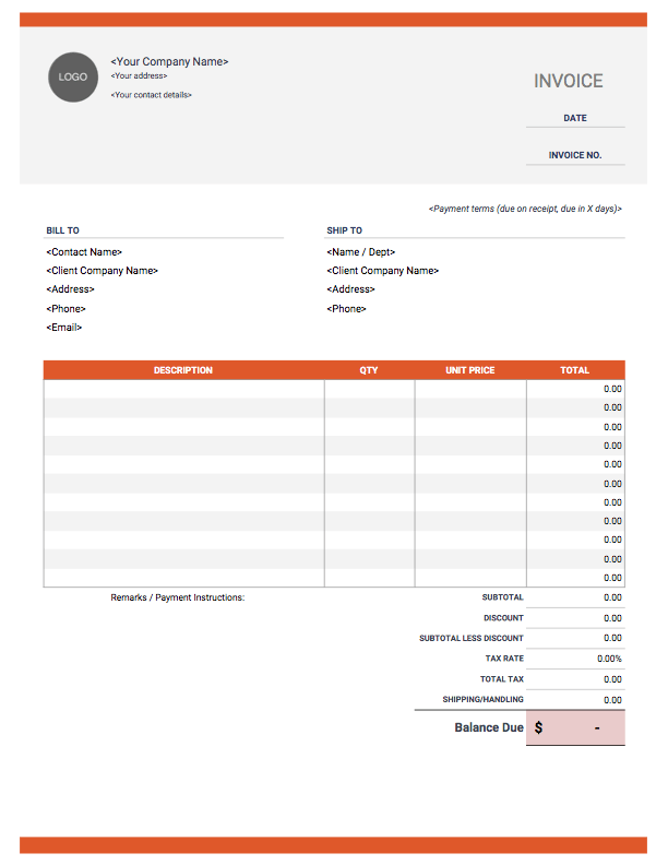 Feel free to download, modify and use any you like. Excel Invoice Template Free Download Invoice Simple