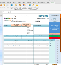 bill format for catering and wedding service imfe edition  [ 1280 x 900 Pixel ]