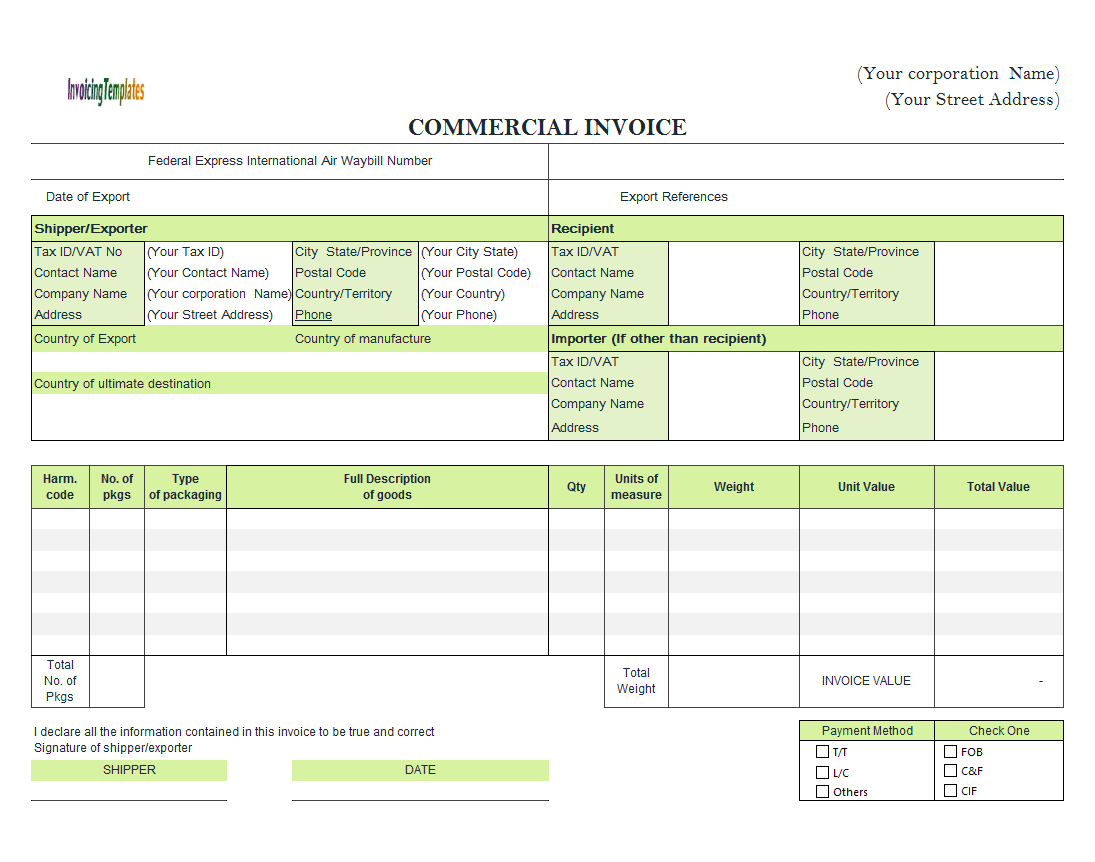 Commercial Template Sample