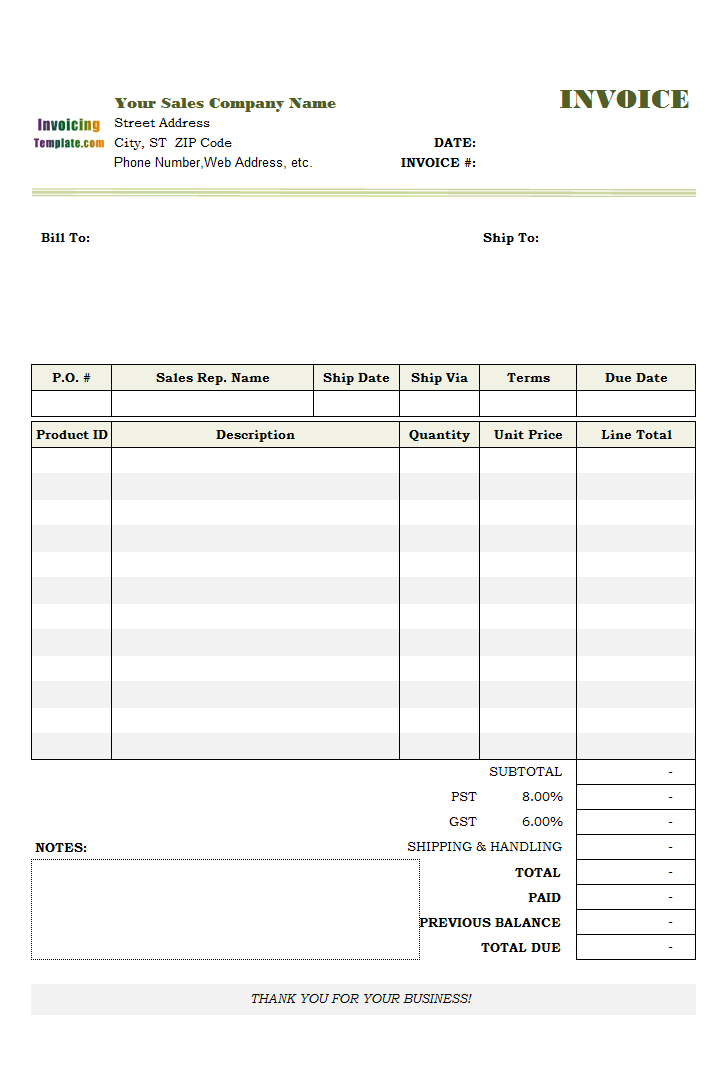 how to do an invoice in excel