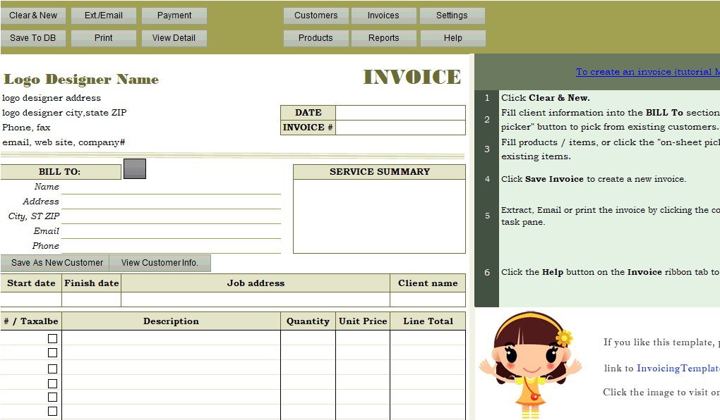 Car Rental Invoice Sample