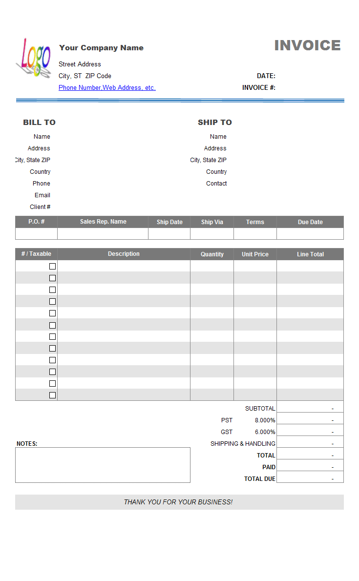 Simple Invoice Sample - Sales Rep Name On Product Report