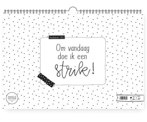 De maandkalender van Winkeltje van Anne.