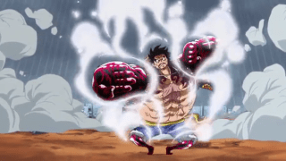 Luffy uses Gear Fourth (4th) for the first time [One Piece]