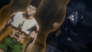 Gon fights Pitou(Neferpitou) (Gon vs Pitou) [Hunter X Hunter]