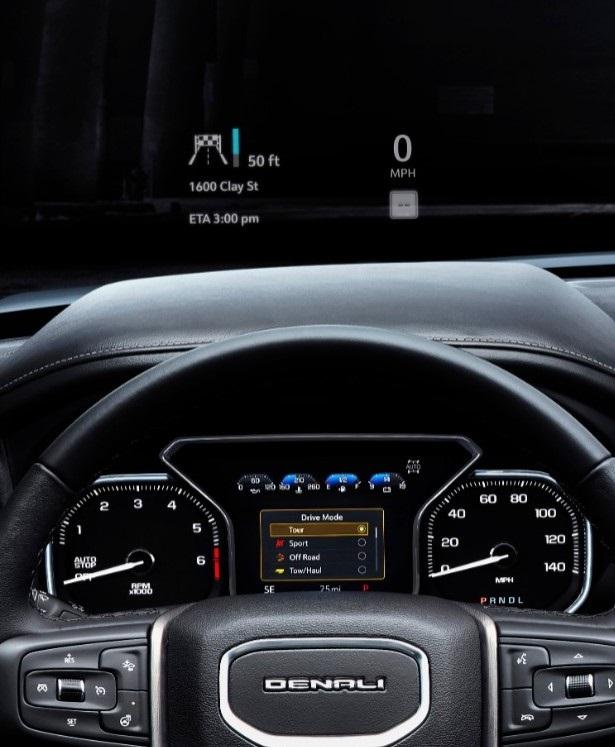 2019 GMC Sierra Denali Headup display  In Wheel Time