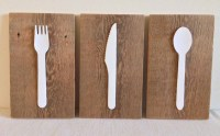 Hanging wall art kitchen utensils | Inwood Creations