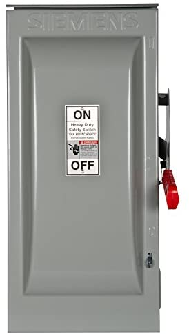 Read more about the article Siemens HNF363R 100-Amp 3 Pole 600-volt 3 Wire Non-Fused Heavy Duty Safety Switches, COLOR