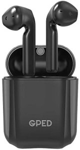 Bluetooth Earbuds Wireless Earbuds Bluetooth Headphones Earphones with 30H Playtime HiFi 3D Stereo Sound,IPX5 Waterproof Built-in Mic Earphones CVC8.0 Apt-X with Charging Case for Sports,Black