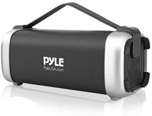 Read more about the article Pyle Wireless Portable Bluetooth Speaker – 200 Watt Power Rugged Compact Audio Sound Box Stereo System – Rechargeable Battery, 3.5mm AUX Input Jack, FM Radio, MP3, Micro SD and USB Reader – PBMSQG12