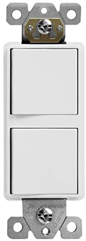 Read more about the article TOPGREENER Double Paddle Rocker Bathroom Ventilation Fan Light Switch, Ground terminal, Clamp-Type Back Insert Wiring, Copper Only, Single Pole, Residential Grade, 15A 120V-277V, TGCFS215, White