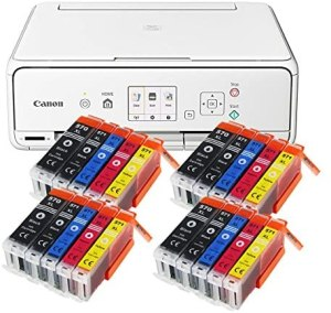 Canon Pixma TS5051 TS-5051 Farbtintenstrahl-Multifunktionsgerät (Drucker, Scanner, Kopierer, USB, WLAN, Apple AirPrint, SD-Kartenleser) weiß + 20er Set IC-Office XL Tintenpatronen 570XL 571XL