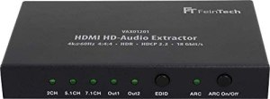 FeinTech VAX01201 HDMI HD-Audio Extractor 7.1 ARC Dolby Atmos DTS 4K 60Hz HDR