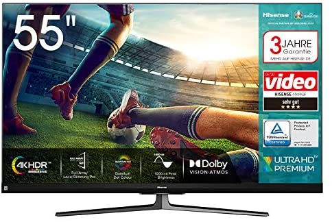 Read more about the article Hisense 55U8QF QLED 139cm (55 Zoll) Fernseher (4K ULED HDR Smart TV, Ultra Premium HD, HDR10+, Dolby Vision&Atmos, Full Array Local Dimming, 120Hz Panel, USB-Recording, JBL sound, Alexa Built-in)