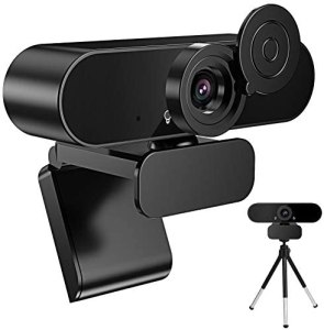 Liraip 1080P HD Webcam with Microphone Privacy Cover, Tripod,Laptop, Computer, Desktop Plug and Play Web Camera for Live Streaming, Video Chat, Conference, Recording, Online Classes, Game (Black)