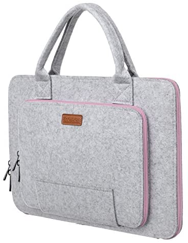 Read more about the article Ropch 15,6 Zoll Filz Sleeve Hülle Laptop Tasche für 15 – 15,6 Zoll Acer / Asus / Dell / HP / Lenovo – Grau / Rosa