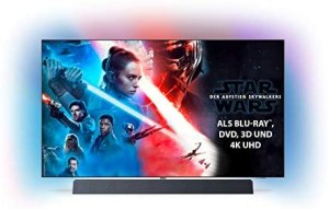 Philips Ambilight 65OLED934/12 OLED+ TV 65 Zoll – 164 cm (4K UHD, P5 Pro Perfect Picture Engine, HDR 10+, Dolby Vision∙Atmos, Sound von Bowers & Wilkins, Android TV, Triple Tuner)