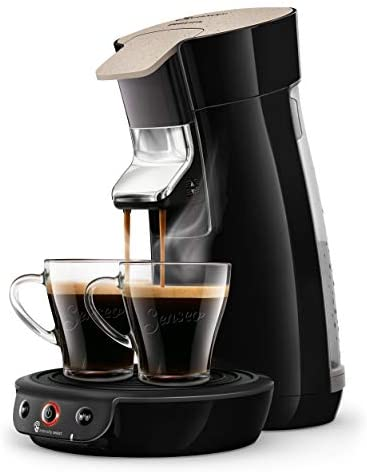 Philips Senseo Viva Cafe Eco HD6562/32 Kaffeepadmaschine – Limited Edition mit 80 Pads gratis, schwarz