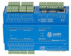 UniPi Neuron M203 (incl. Raspberry Pi 3) – Monitor & Manage Anything – AddOn Expansion Board for Home Automation, Monitoring, Data Collection, Motor Control, etc