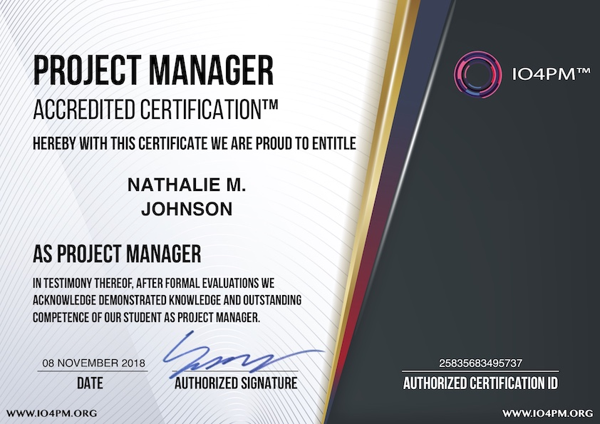 IO4PMORG  USD 49 PROJECT MANAGEMENT CERTIFICATIONS  Worlds Most Popular and Economical