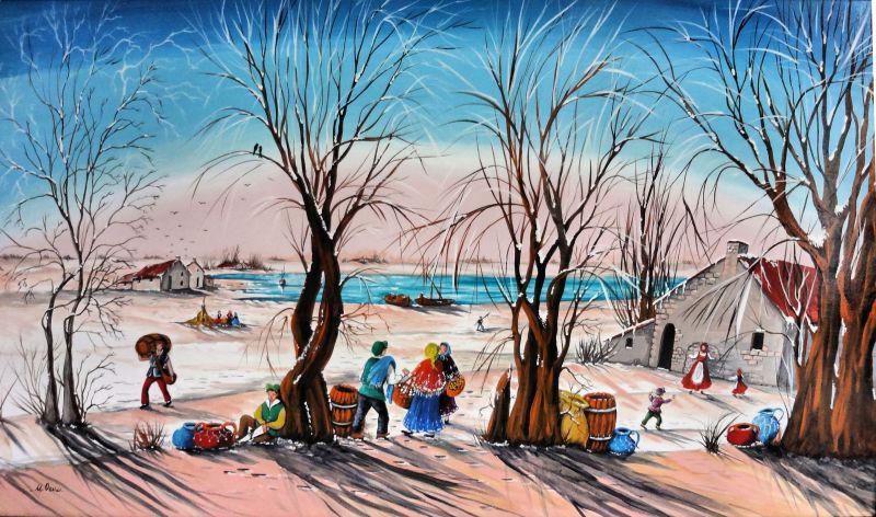 Paesaggio Invernale Per Finestre