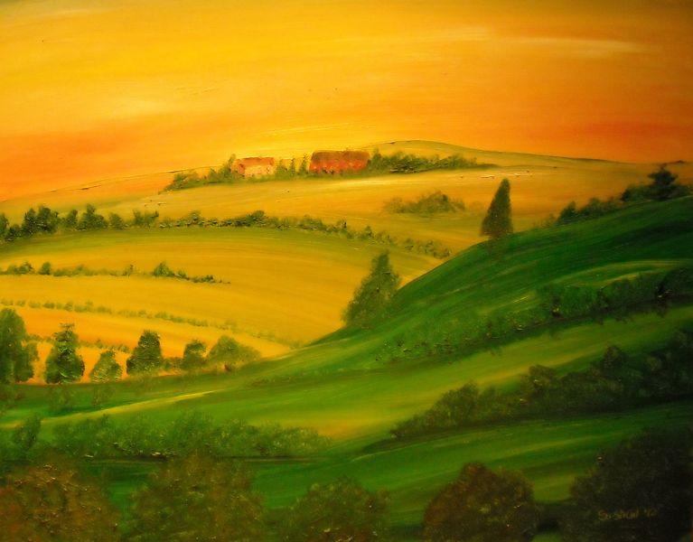 Paesaggi marchigiani estivi  Opera darte di Robert Nike